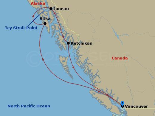 Alaszkai körutazás hajóút