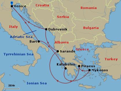 Hajóút Albánia érintésével hajóút