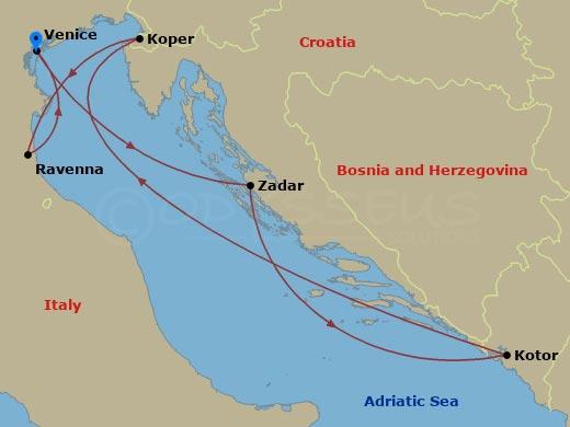 Zadar, Kotor, Ravenna hajóút