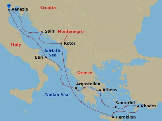Görög álmok hajóút