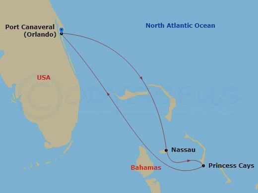 Nassau, Princess Cays hajóút