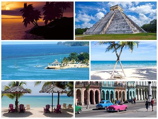 Bahamák, Mexikó, Honduras úticél