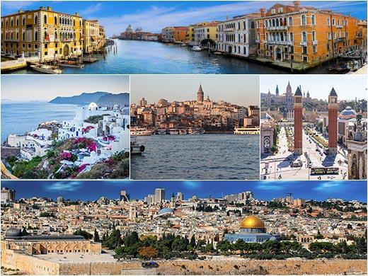 Málta, Korfu, Szicília úticél