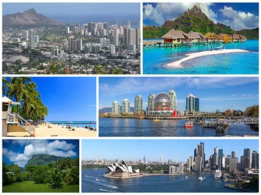 Francia Polinézia és Hawaii úticél